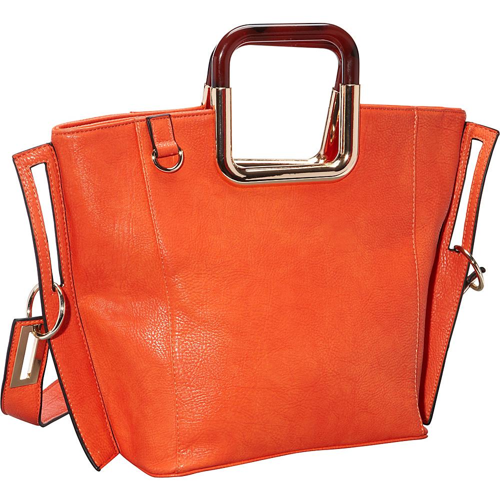 Ann Creek Square Eye Tote Orange Ann Creek Manmade Handbags