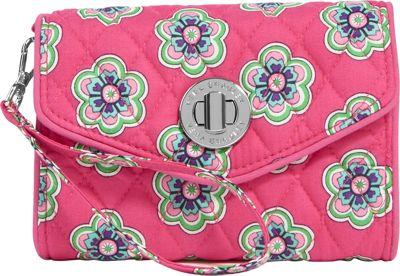 Vera Bradley Your Turn Smartphone Wristlet Pink Swirls Flowers - Vera Bradley Ladies Wallet on a String