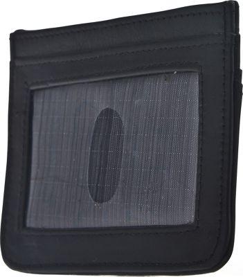 Image of Allett Leather RFID Security Credit Card Case Black - Allett Mens Wallets
