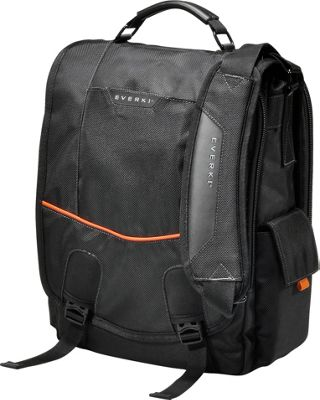 Everki Urbanite 14.1 inch Laptop Vertical Messenger Bag Black - Everki Messenger Bags