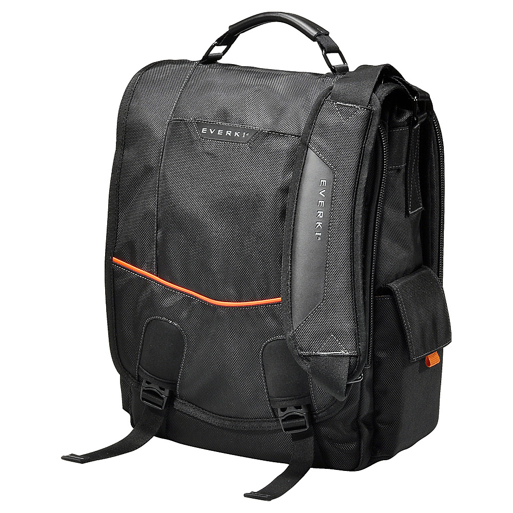 Everki Urbanite 14.1 Laptop Vertical Messenger Bag Black Everki Messenger Bags