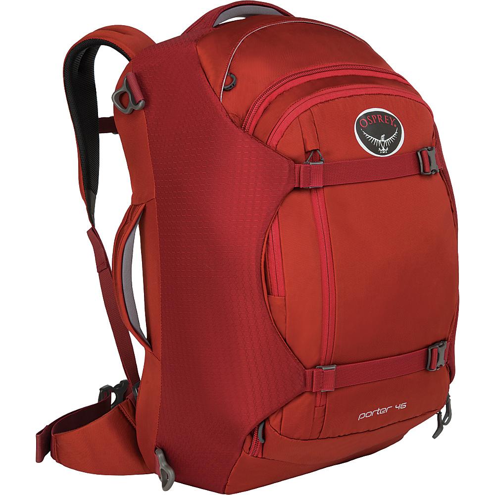 Osprey Porter 46 Travel Backpack Hoodoo Red - Osprey Travel Backpacks - Backpacks, Travel Backpacks