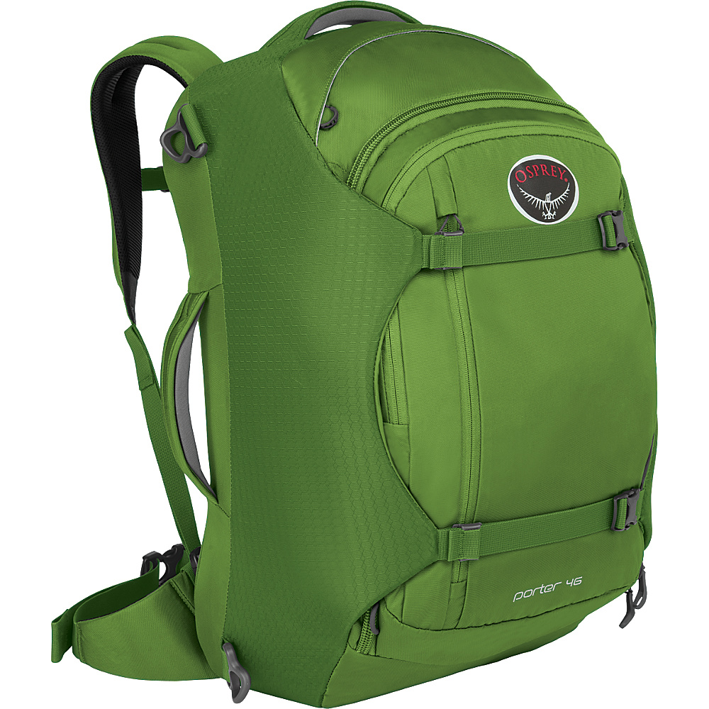 Osprey Porter 46 Travel Backpack Nitro Green Osprey Travel Backpacks