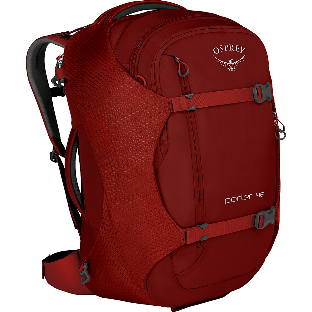 Osprey Porter 46 Travel Backpack Diablo Red - Osprey Travel Backpacks - Backpacks, Travel Backpacks