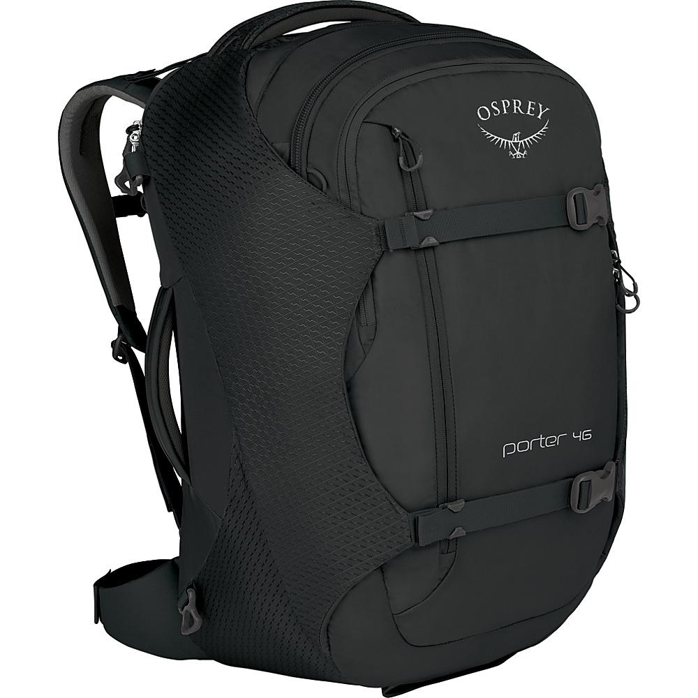Osprey Porter 46 Travel Backpack Black - Osprey Travel Backpacks - Backpacks, Travel Backpacks