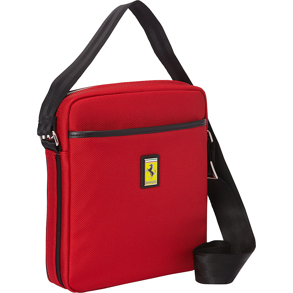 Ferrari Luxury Collection Utility Cross Body Medium Shoulder Bag Reds - Ferrari Luxury Collection Messenger Bags