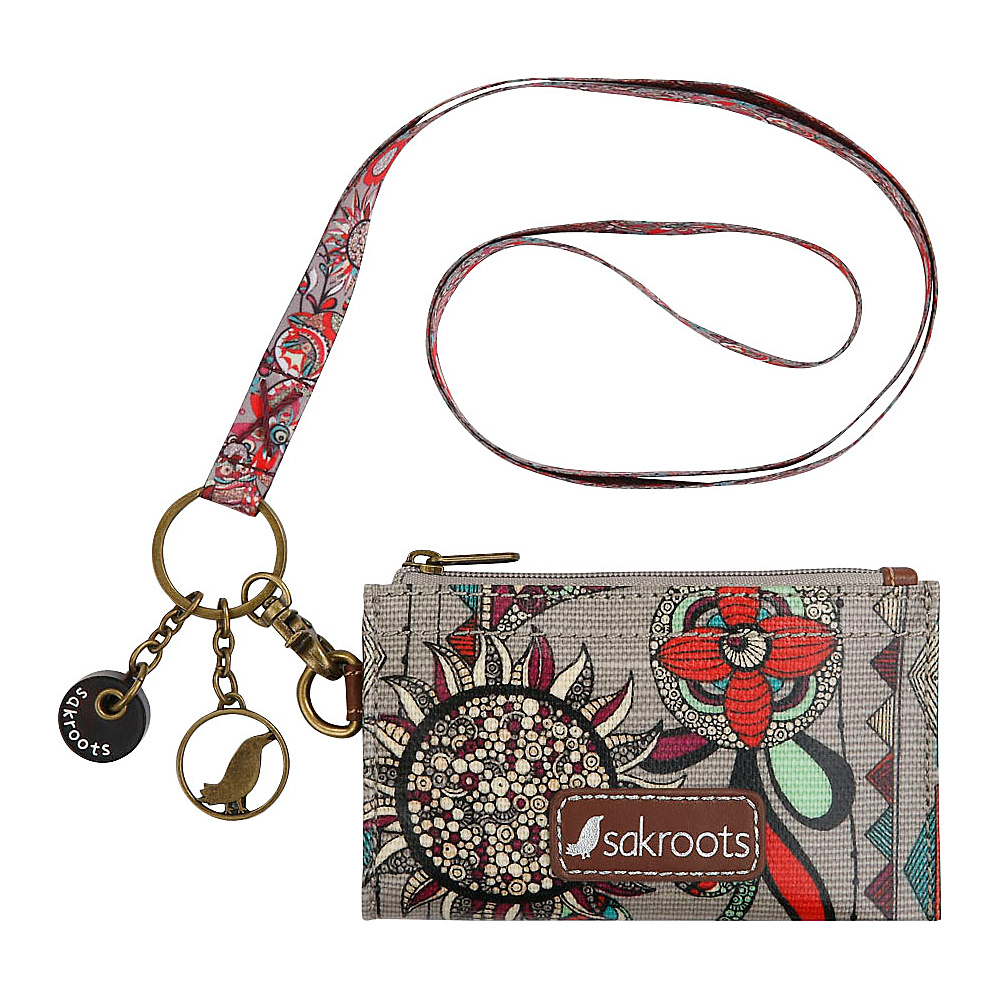 Sakroots Artist Circle ID Lanyard Charcoal Spirit Desert - Sakroots Travel Wallets - Travel Accessories, Travel Wallets