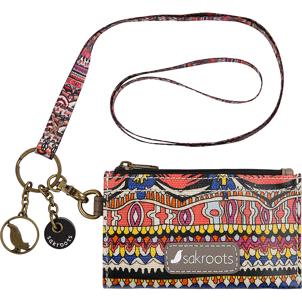 Sakroots Artist Circle ID Lanyard Camel One World - Sakroots Travel Wallets - Travel Accessories, Travel Wallets