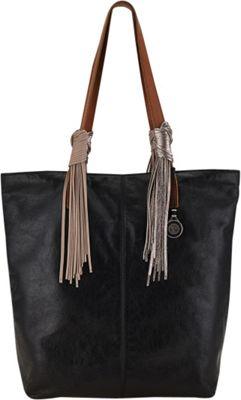 The Sak Palisade Tote Bag Black Tassel - The Sak Leather Handbags