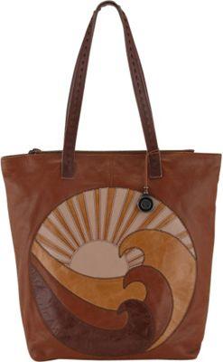 The Sak Palisade Tote Bag Patchwork Wave - The Sak Leather Handbags