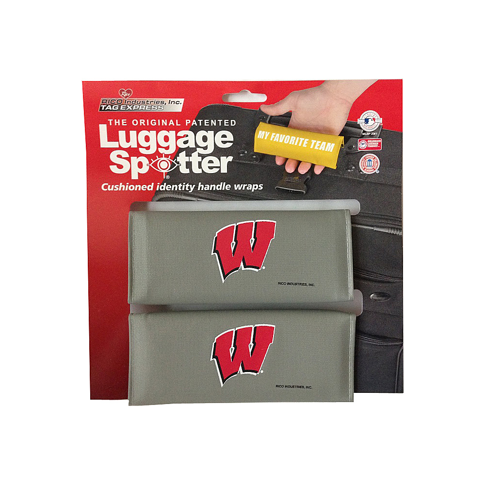 Luggage Spotters NCAA Wisconsin Badgers Luggage Spotter Gray Luggage Spotters Luggage Accessories