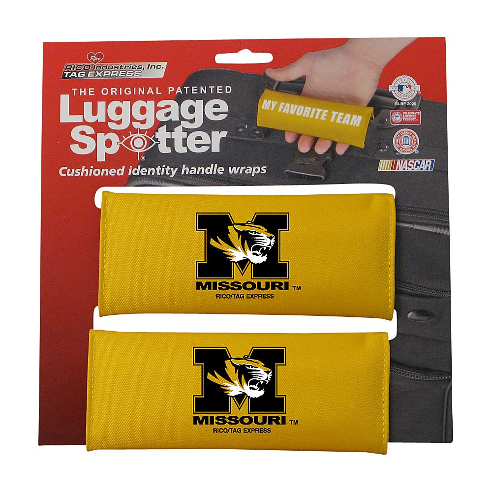 Luggage Spotters NCAA Missouri Tigers Luggage Spotter Yellow Luggage Spotters Luggage Accessories