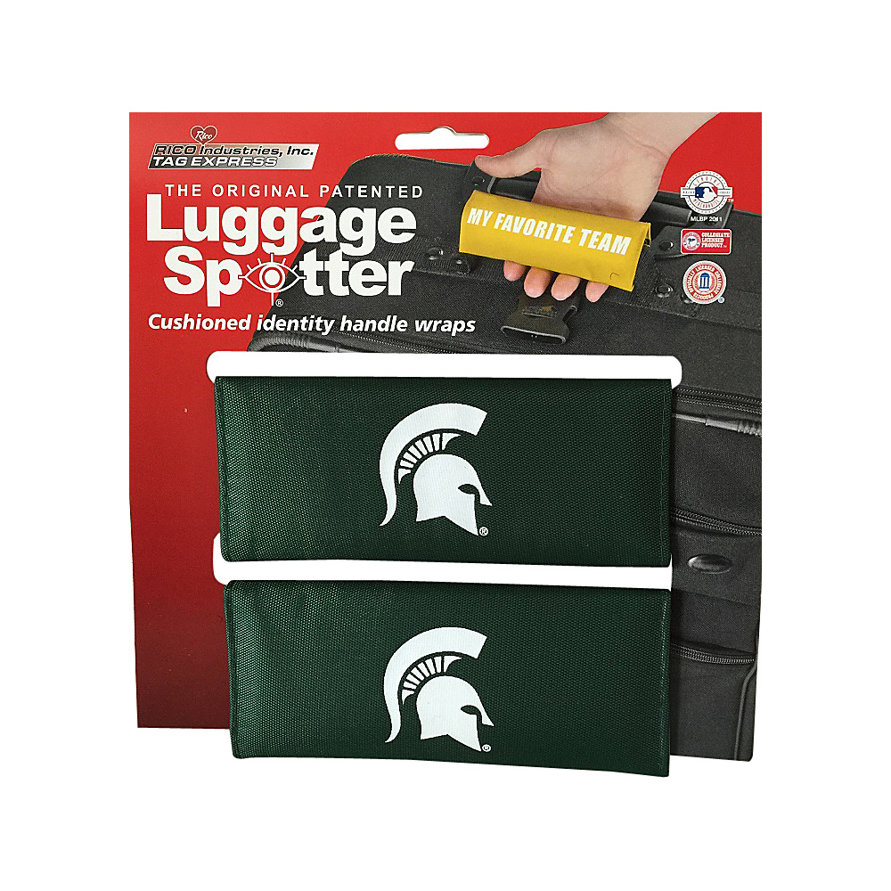 Luggage Spotters NCAA Michigan State Spartans Luggage Spotter Green Luggage Spotters Luggage Accessories