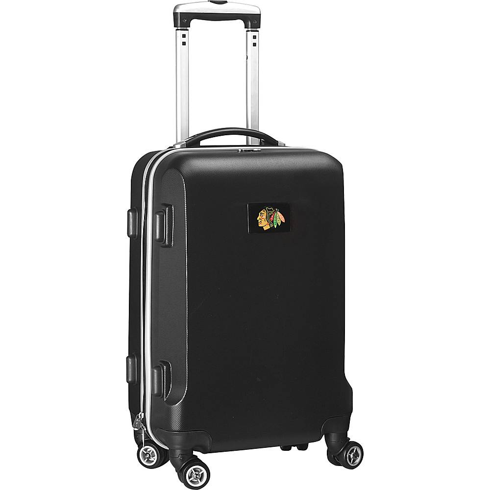 Denco Sports Luggage NHL 20 Domestic Carry-On Black Chicago Blackhawks - Denco Sports Luggage Hardside Carry-On - Luggage, Hardside Carry-On
