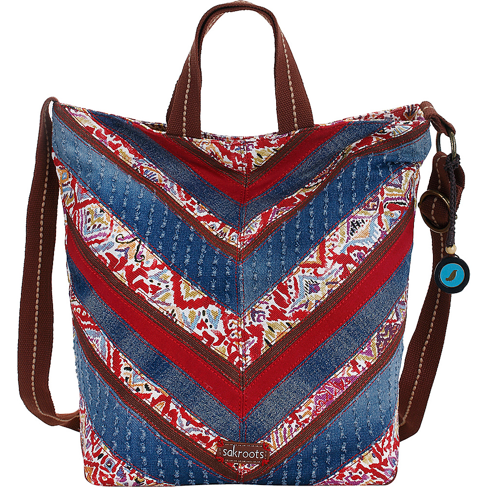 Sakroots Artist Circle Campus Tote Sweet Red Brave Beauti Patch - Sakroots Fabric Handbags
