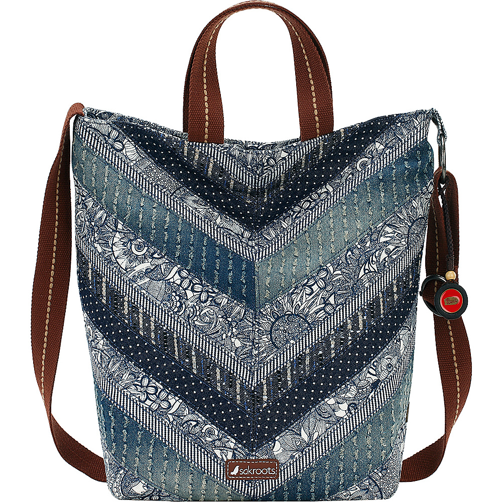 Sakroots Artist Circle Campus Tote Navy Spirit Desert Patch Sakroots Fabric Handbags