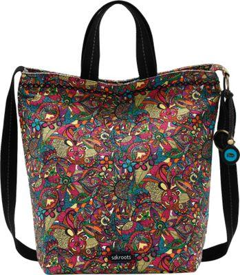 Sakroots Artist Circle Campus Tote Rainbow Spirit Desert - Sakroots Fabric Handbags