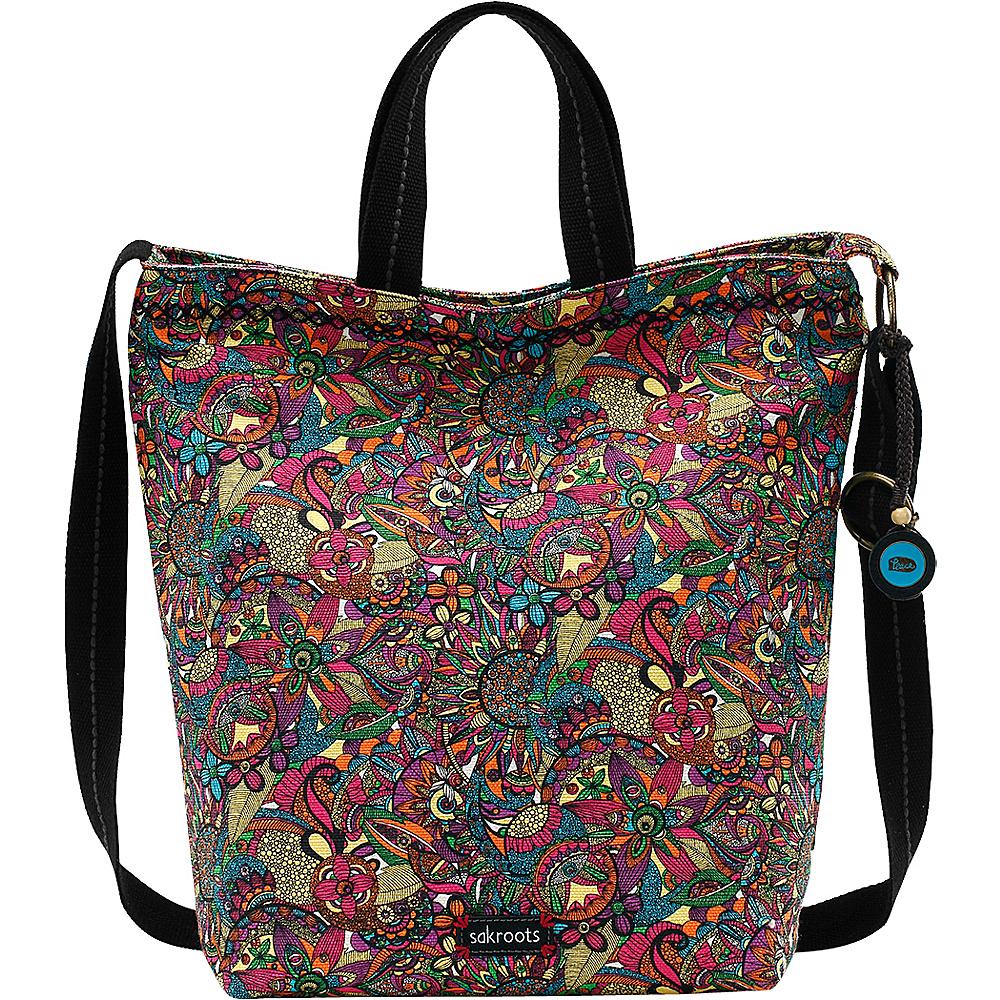 Sakroots Artist Circle Campus Tote Rainbow Spirit Desert - Sakroots Fabric Handbags - Handbags, Fabric Handbags