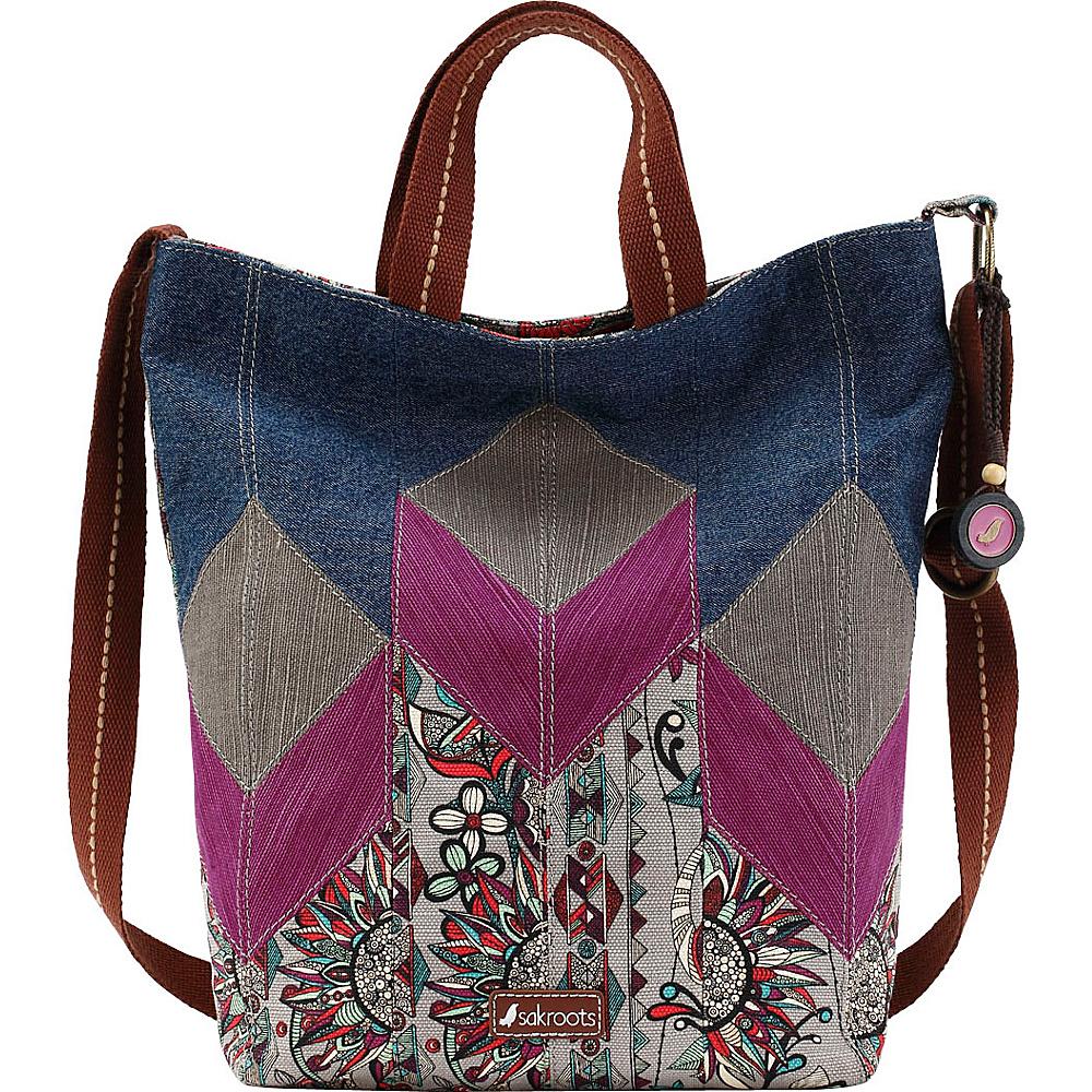 Sakroots Artist Circle Campus Tote Charcoal Spirit Desert - Sakroots Fabric Handbags - Handbags, Fabric Handbags