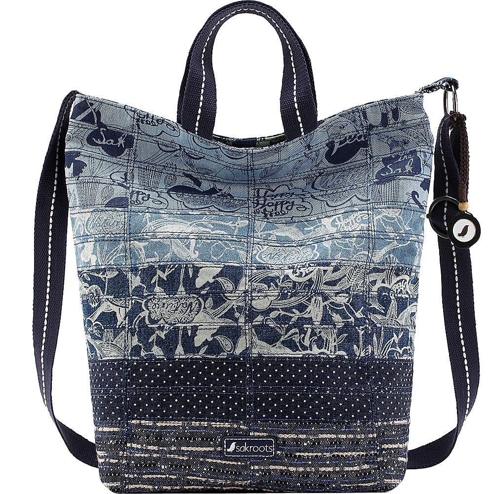 Sakroots Artist Circle Campus Tote Denim Peace - Sakroots Fabric Handbags - Handbags, Fabric Handbags