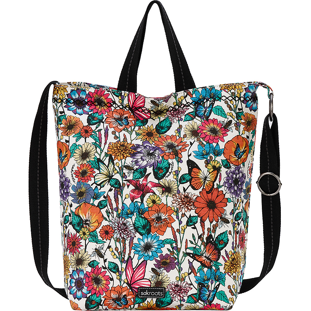 Sakroots Artist Circle Campus Tote Optic In Bloom - Sakroots Fabric Handbags - Handbags, Fabric Handbags