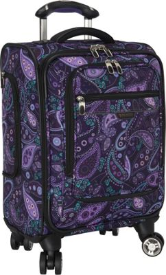 Ricardo Beverly Hills Mar Vista 17-Inch 4 Wheeled Aboard Spinner Purple Paisley - Ricardo Beverly Hills Softside Carry-On