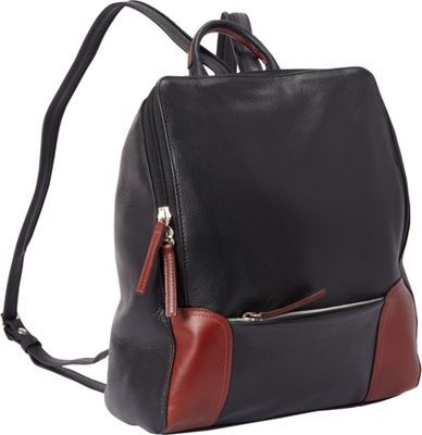 Derek Alexander Backpack Sling Black/Brandy - Derek Alexander Leather Handbags