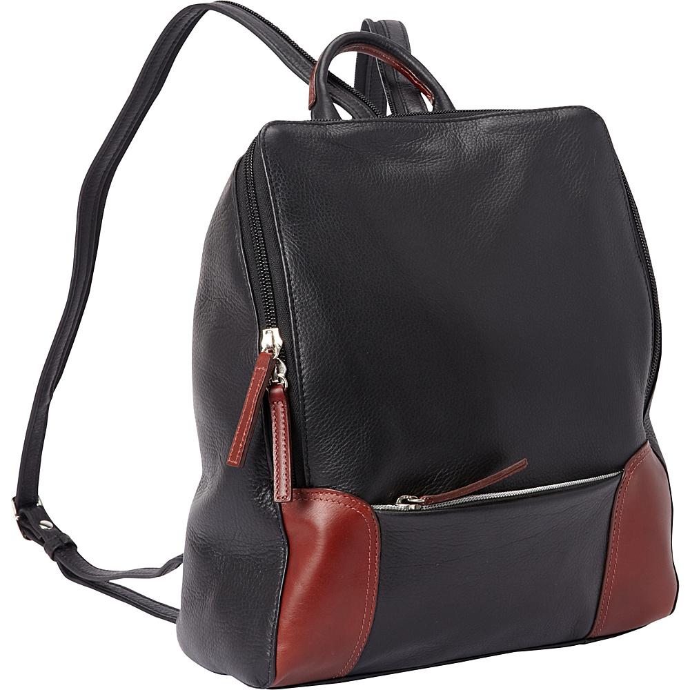 Derek Alexander Backpack Sling Black/Brandy - Derek Alexander Leather Handbags - Handbags, Leather Handbags