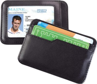 High Road Smooth Trip RFID Blocking Leather Card and ID Case Black - High Road Travel Wallets
