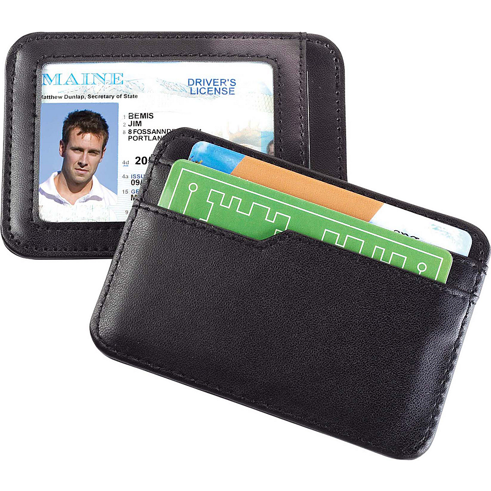High Road Smooth Trip RFID Blocking Leather Card and ID Case Black High Road Travel Wallets