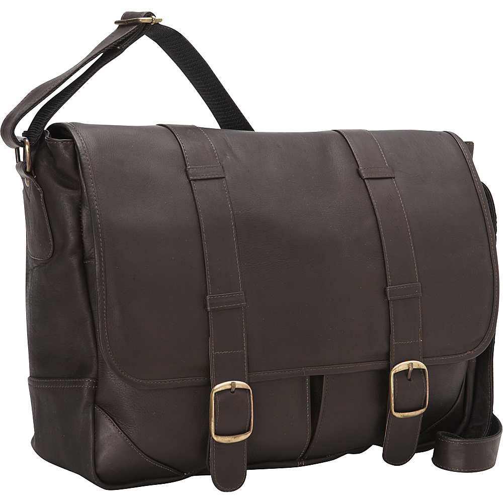 David King Co. Double Strap Laptop Messenger Cafe David King Co. Messenger Bags