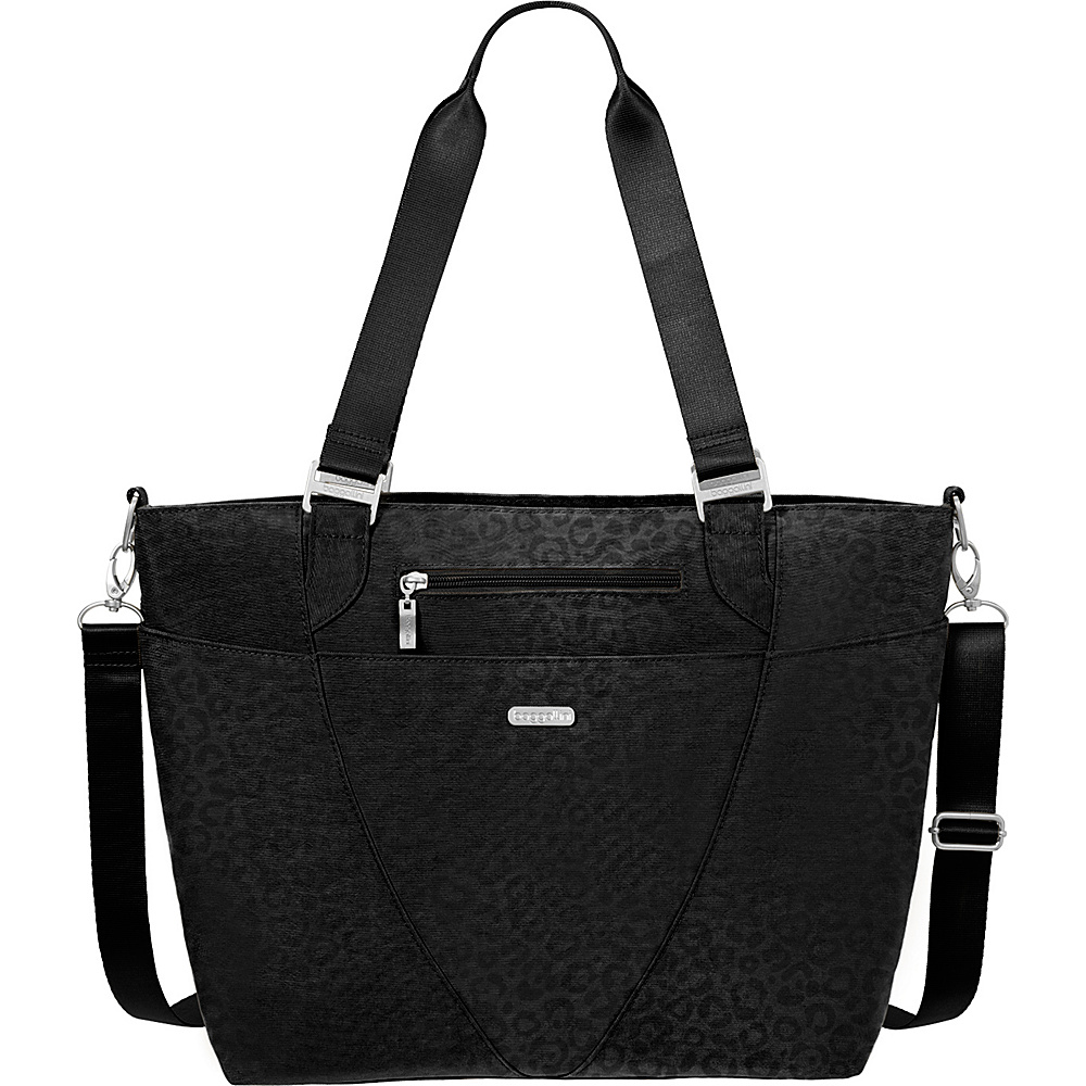baggallini Avenue Tote Black Cheetah Emboss baggallini Fabric Handbags