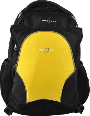 Obersee Oslo Diaper Bag Backpack and Cooler Black / Yellow - Obersee Diaper Bags & Accessories 10320128