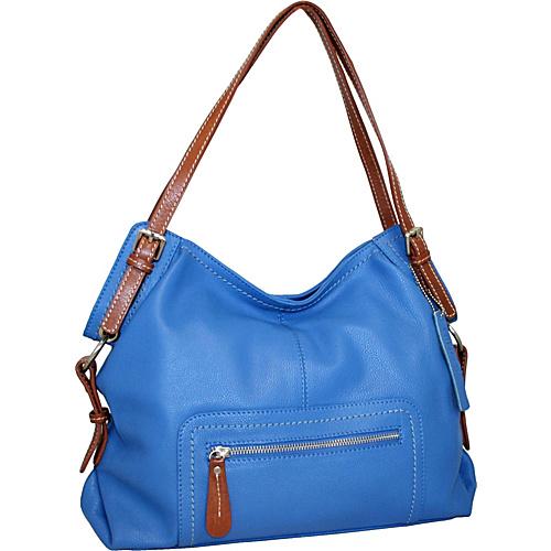 Nino Bossi Soho GoGo Satchel Blue - Nino Bossi Leather Handbags