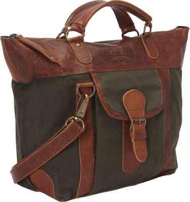 Sharo Leather Bags Satchel Handbag with Shoulder Strap Green and Brown Two Tone - Sharo Leather Bags Leather Handbags