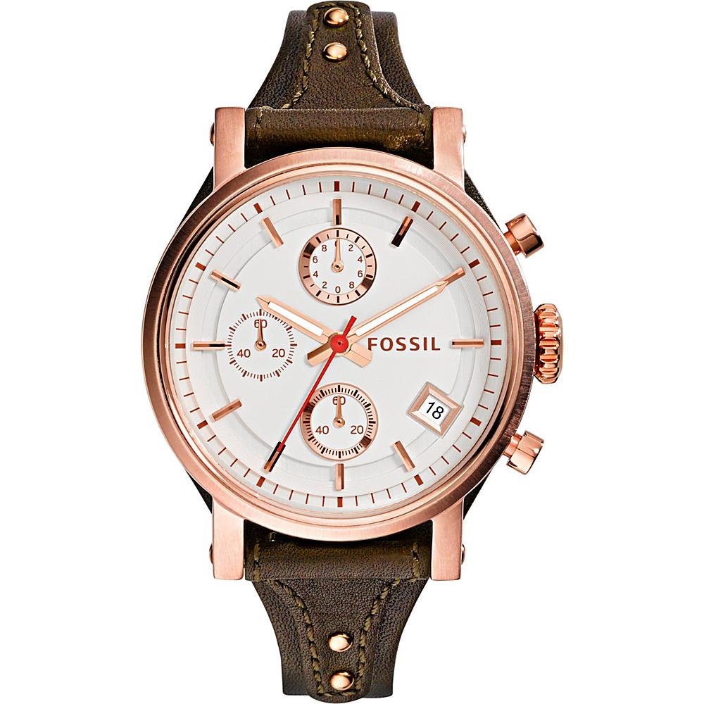Fossil Original Boyfriend Watch Dark Brown - Fossil Watches - Fashion Accessories, Watches