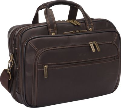 Heritage Colombian Leather Checkpoint-Friendly Briefcase Brown - Heritage Non-Wheeled Business Cases