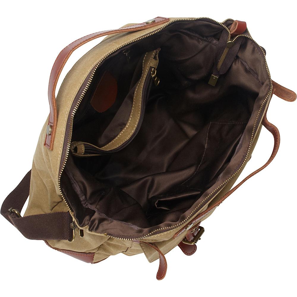 Vagabond Traveler Classic Antique Style Large Cotton Canvas Bag Military Green - Vagabond Traveler Messenger Bags