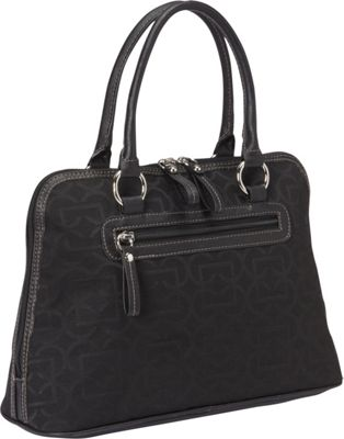 Aurielle-Carryland Geo Signature Dome Satchel Black - Aurielle-Carryland Fabric Handbags
