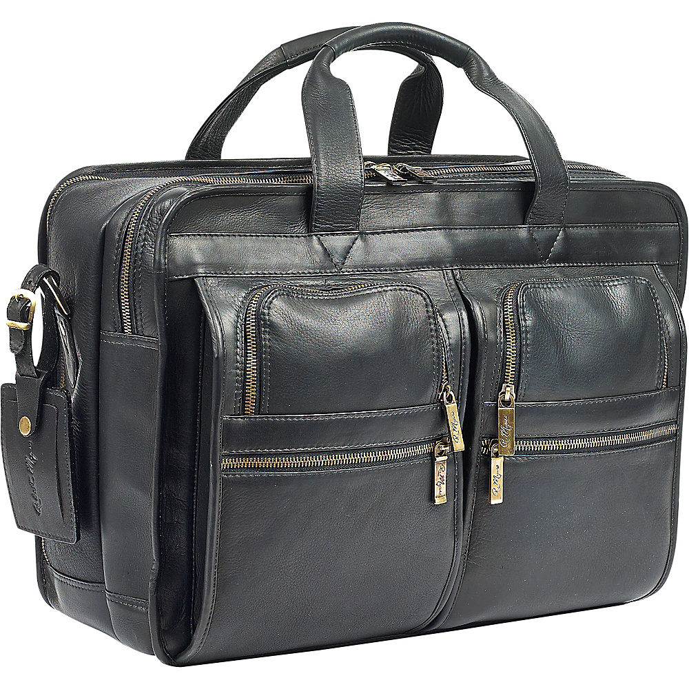Robert Myers Classic Executive Briefcase Black - Robert Myers Non-Wheeled Business Cases