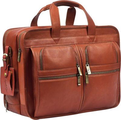 Robert Myers Classic Executive Briefcase Tan - Robert Myers Non-Wheeled Business Cases