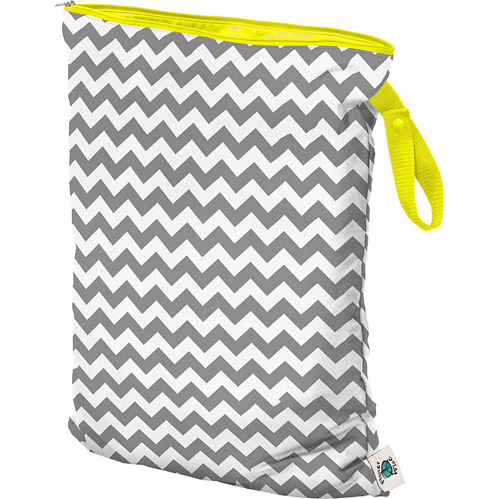 Planet Wise Large Wet Bag Gray Chevron Planet Wise Diaper Bags Accessories