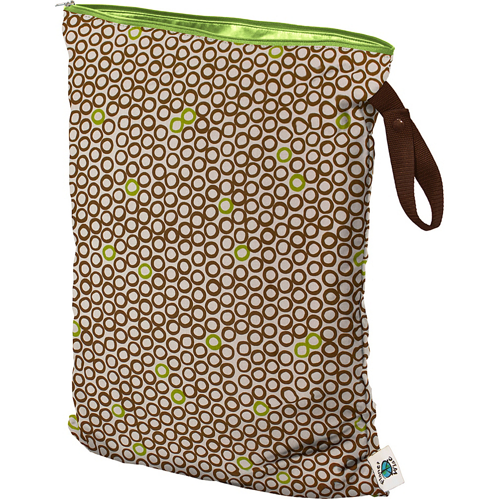 Planet Wise Large Wet Bag Lime Cocoa Bean Planet Wise Diaper Bags Accessories