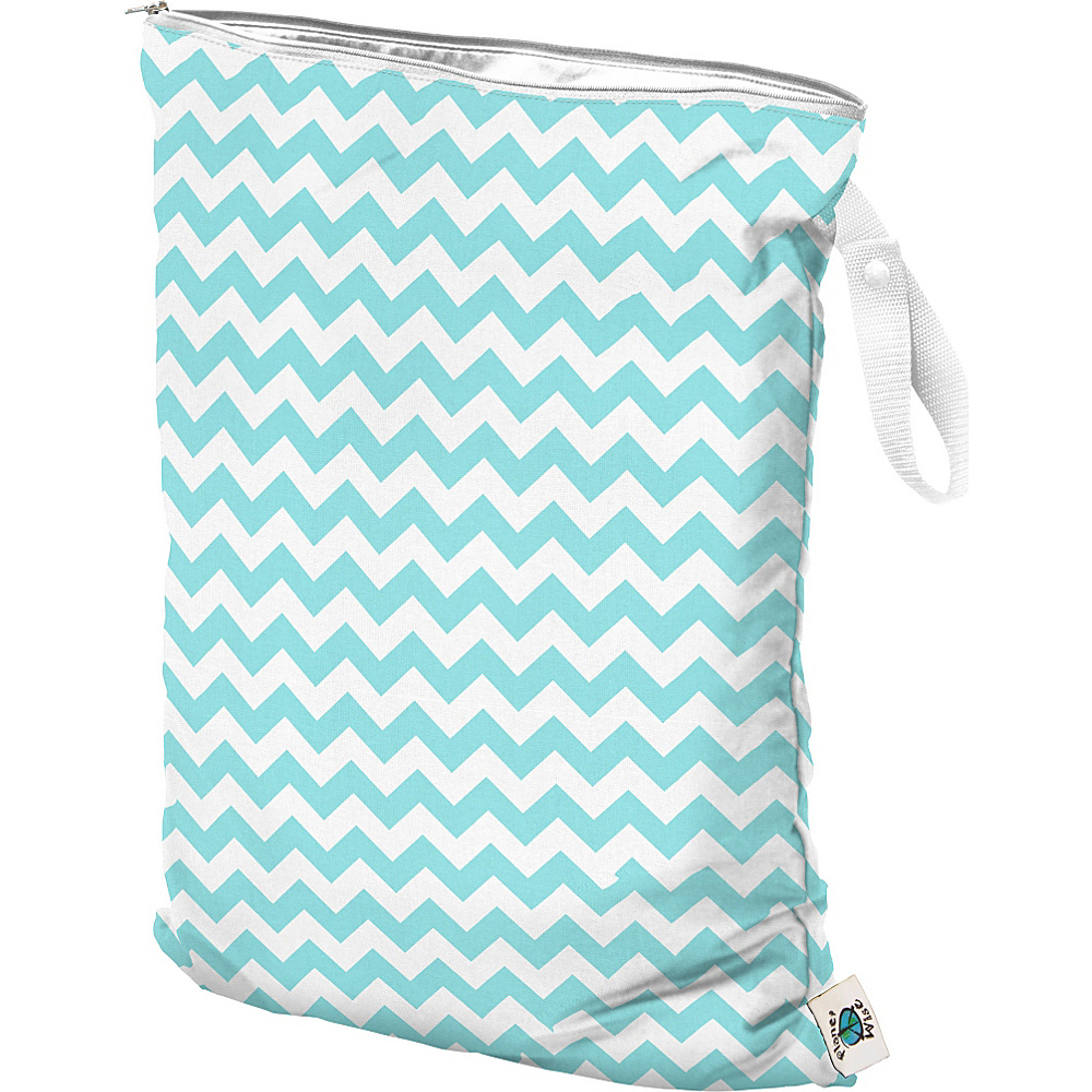 Planet Wise Large Wet Bag Teal Chevron - Planet Wise Diaper Bags & Accessories