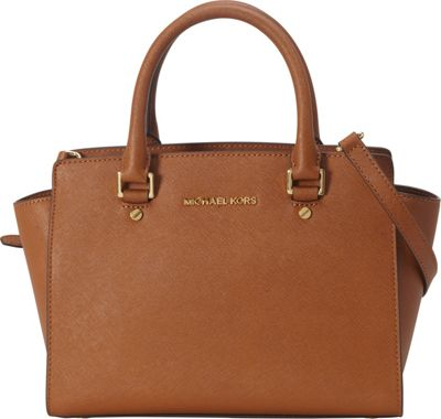 MICHAEL Michael Kors Selma Medium Top Zip Satchel Luggage - MICHAEL Michael Kors Designer Handbags