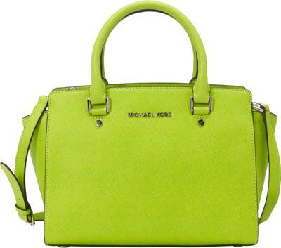 MICHAEL Michael Kors Selma Medium Top Zip Satchel Pear - MICHAEL Michael Kors Designer Handbags