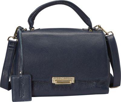 Donna Bella Designs Jasmine Tote Navy Blue - Donna Bella Designs Leather Handbags