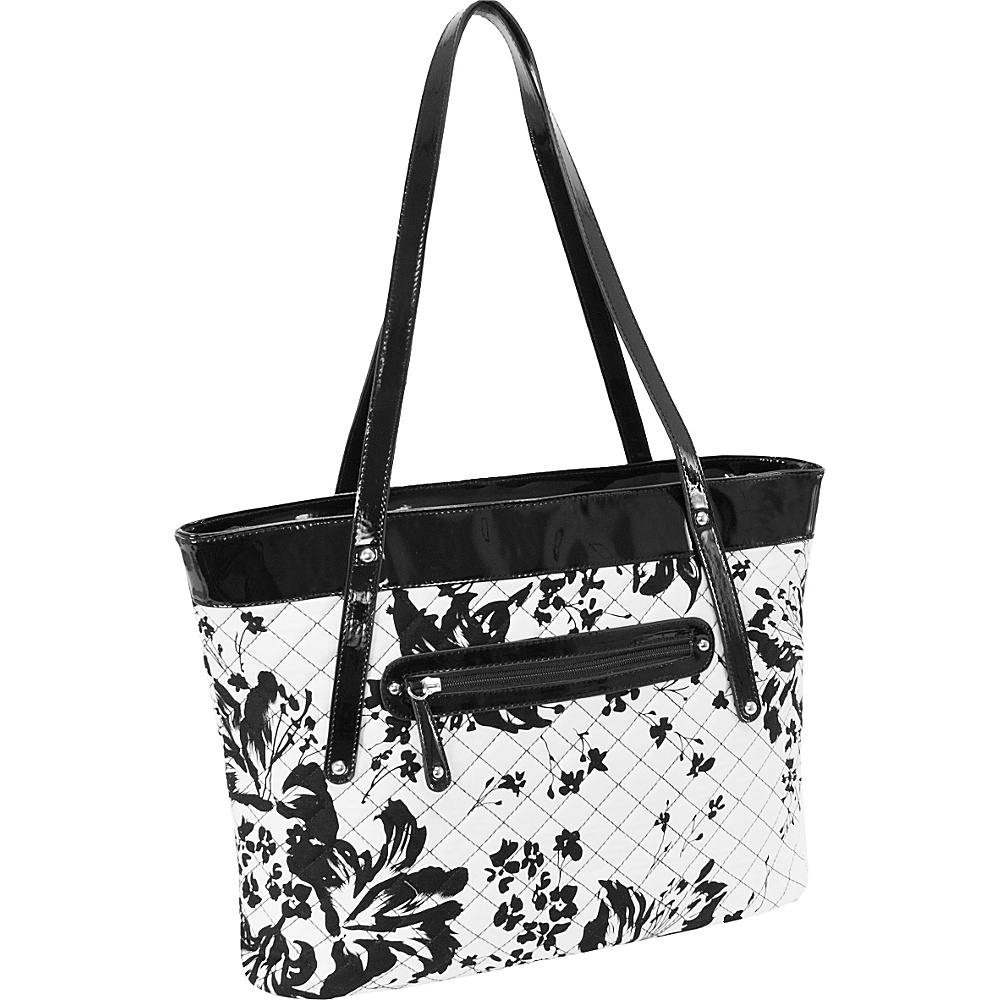 Parinda Fiona Tote Black and White Parinda Fabric Handbags