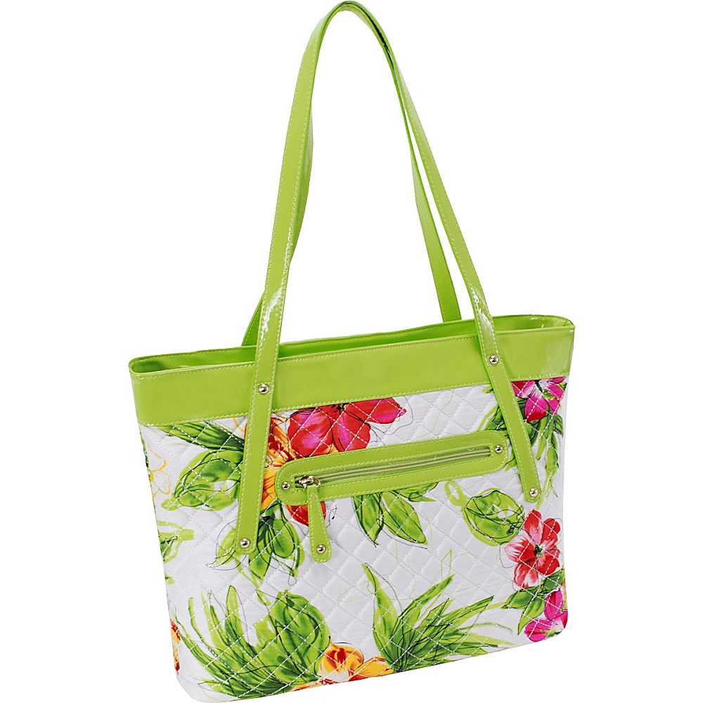 Parinda Fiona Tote Green Parinda Fabric Handbags
