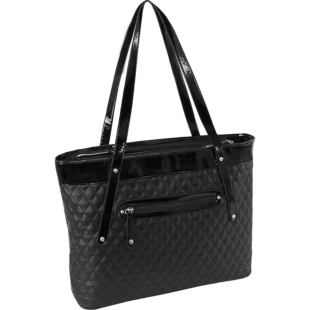 Parinda Fiona Tote Black Parinda Fabric Handbags